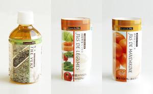 緑茶(280g 税込130円)国産野菜ミックス(195g 税込152円)みかんジュース(195g 税込152円)